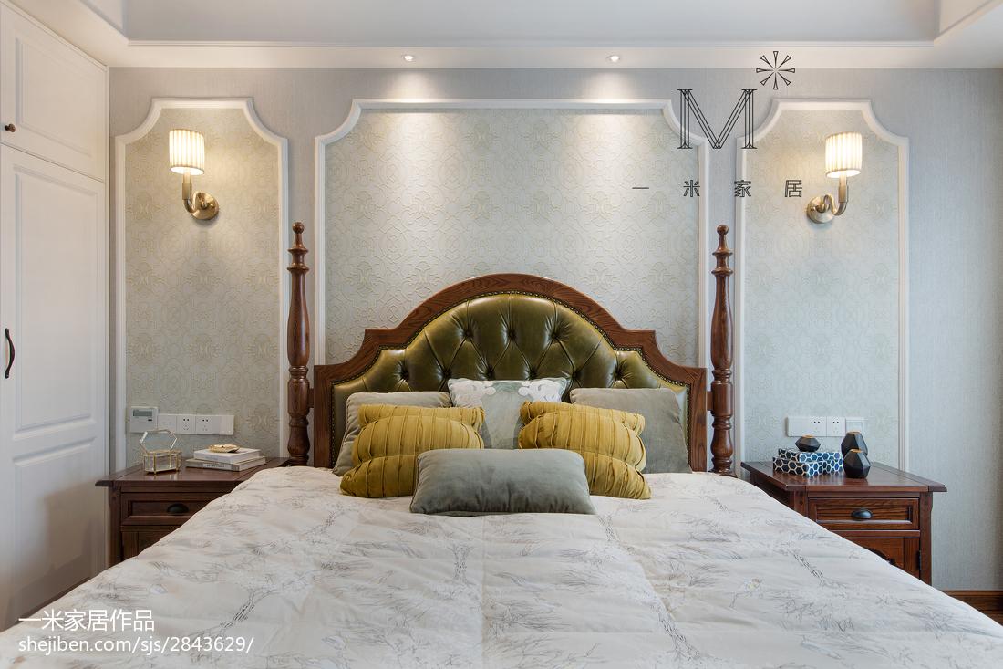面积106平美式三居卧室装修欣赏图片大全