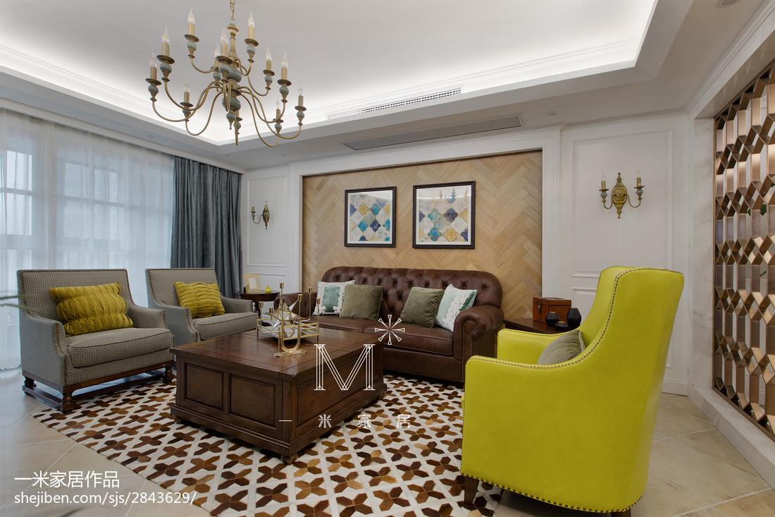 2019213平美式三居客厅设计效果图