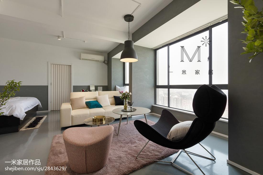 精美面积95平北欧三居客厅装修设计效果图