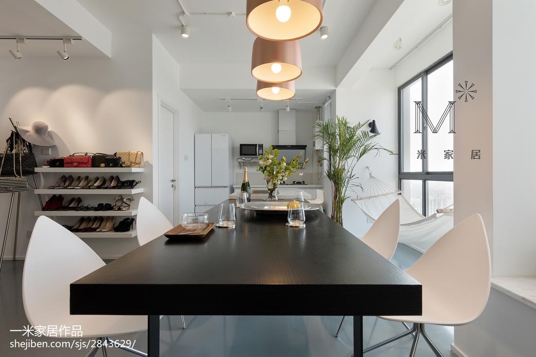 面积92平北欧三居餐厅装修设计效果图