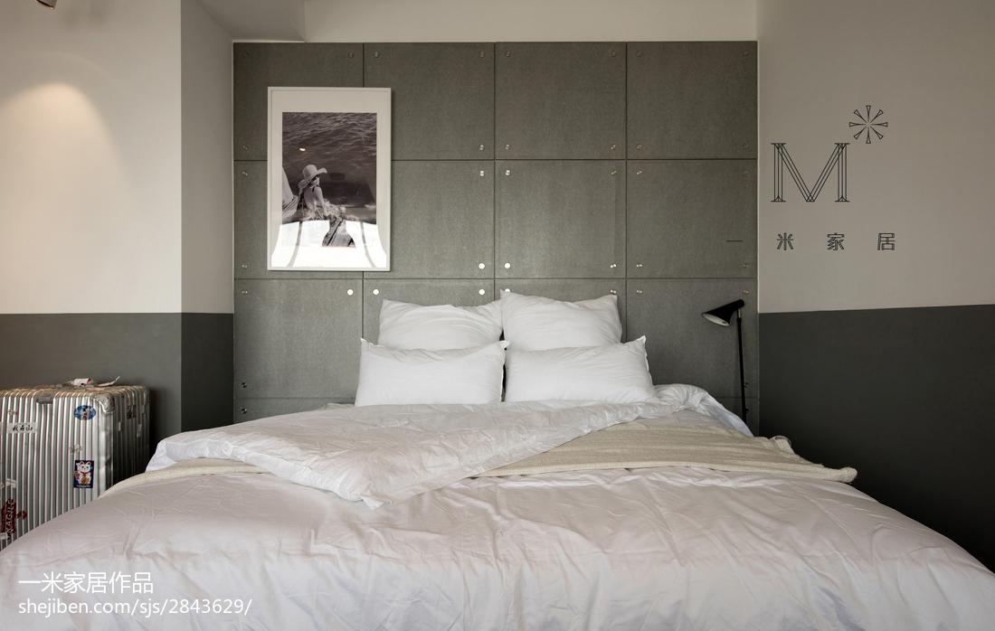 热门面积91平北欧三居卧室效果图
