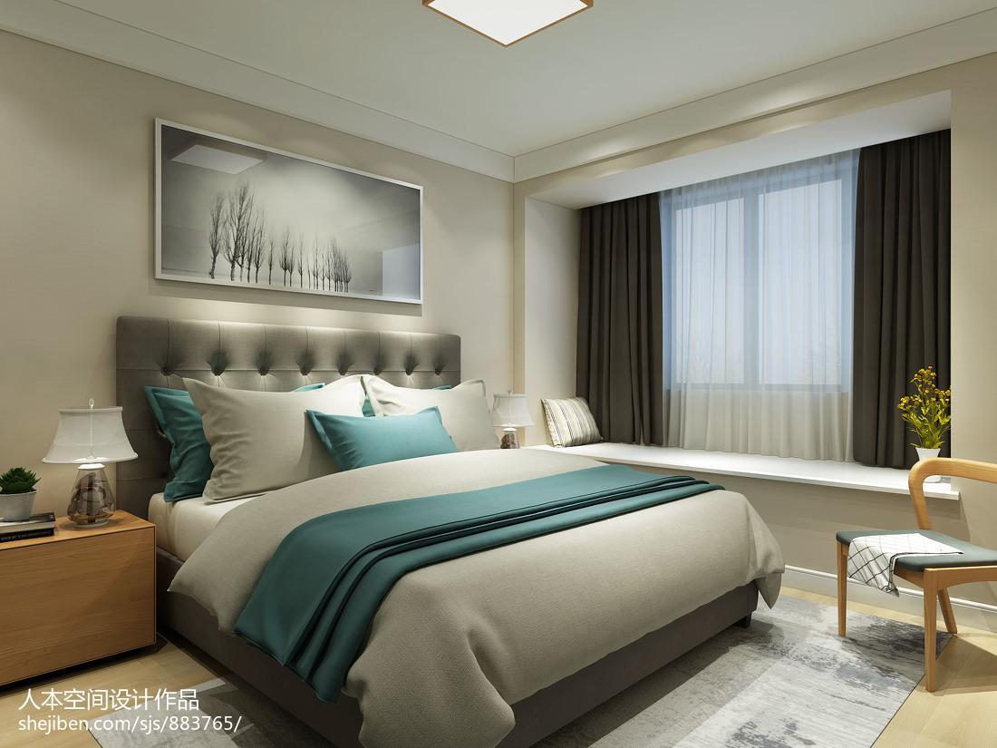 精选97平米三居卧室北欧实景图片