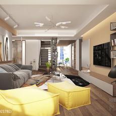 2018精选面积139平复式客厅现代装修图