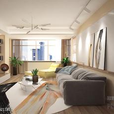 精选122平米现代复式客厅装修设计效果图片
