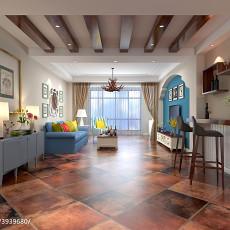 精选90平米三居客厅美式装修欣赏图片