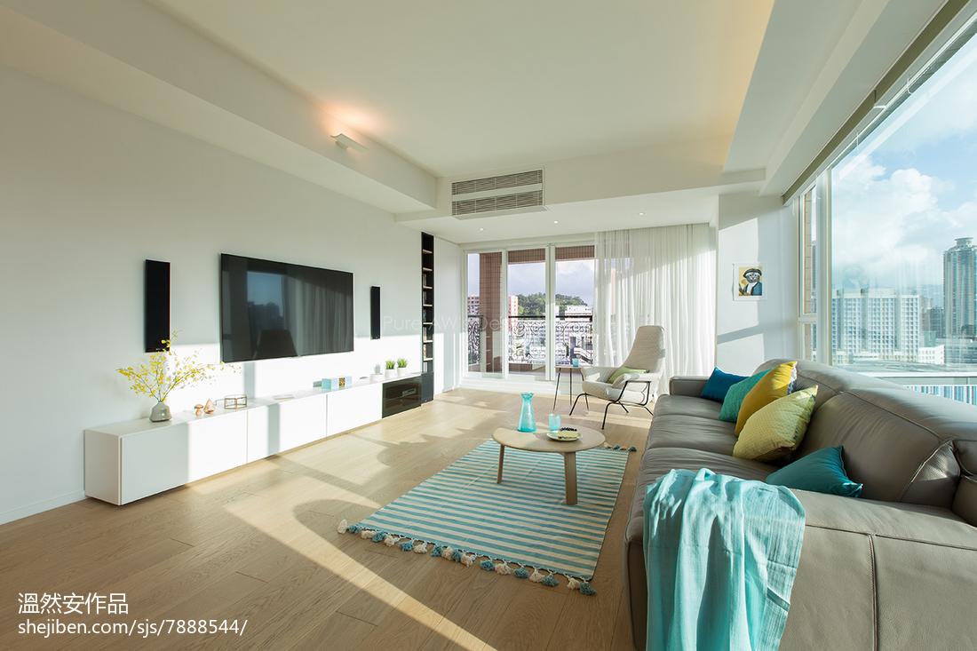 2018简约复式客厅装修设计效果图片