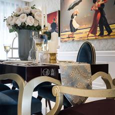 优美79平新古典三居餐厅装修装饰图