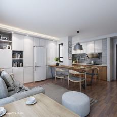 现代简约风格100平米两室两厅装修效果图大全