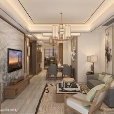 古典优雅现代三室两厅客厅装修效果图