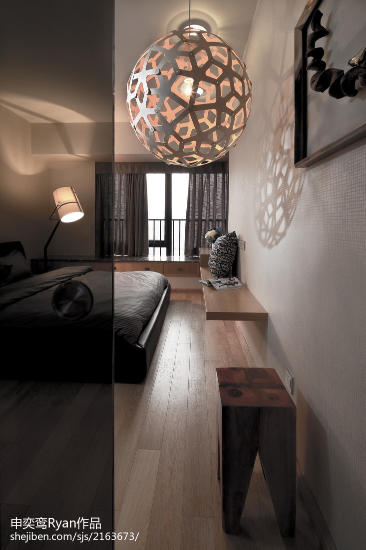 面积103平简约三居卧室装修图片