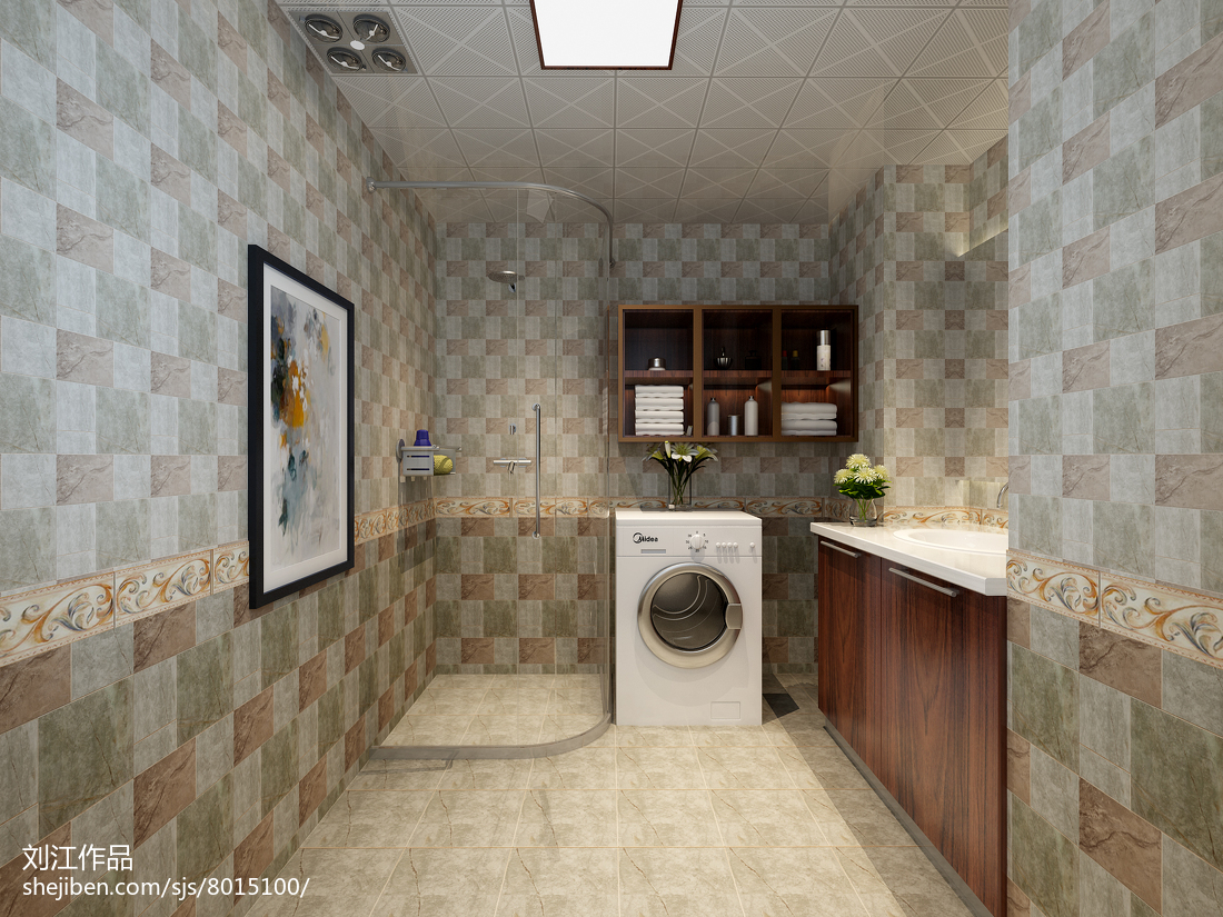 精美简约小户型卫生间实景图