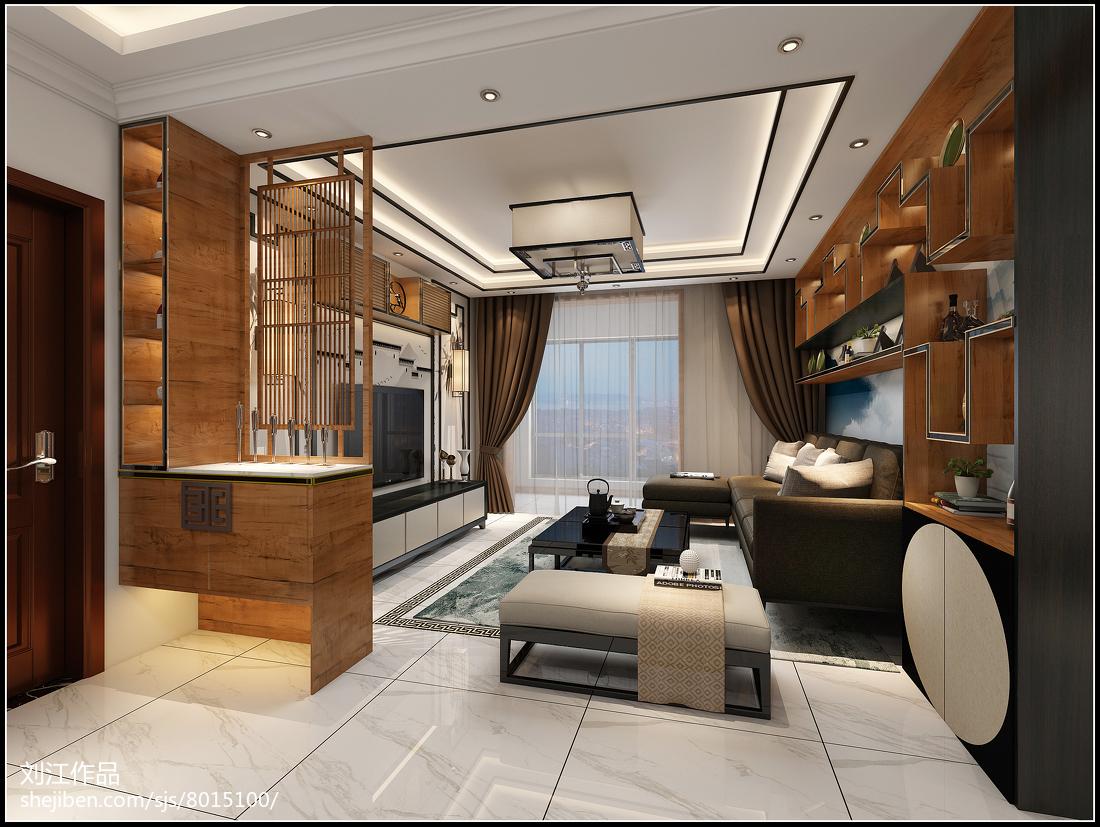 两室两厅90平装修图_美式风格90平米两室两厅装修效果图-土巴兔装修效果图