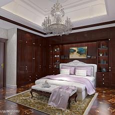 面积118平别墅卧室美式装饰图