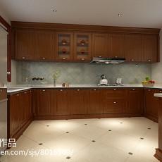 精选142平米美式复式厨房装饰图片