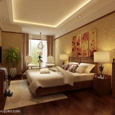 面积71平中式二居卧室效果图