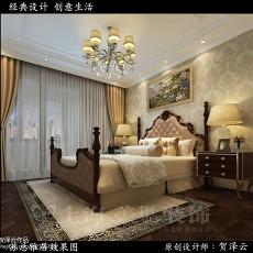 现代家庭主卧室设计图