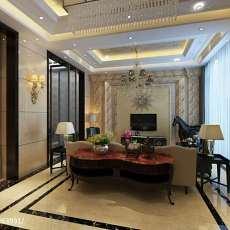 现代别墅客厅装修实景图片