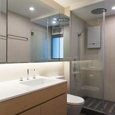热门大小101平现代三居卫生间装修实景图片
