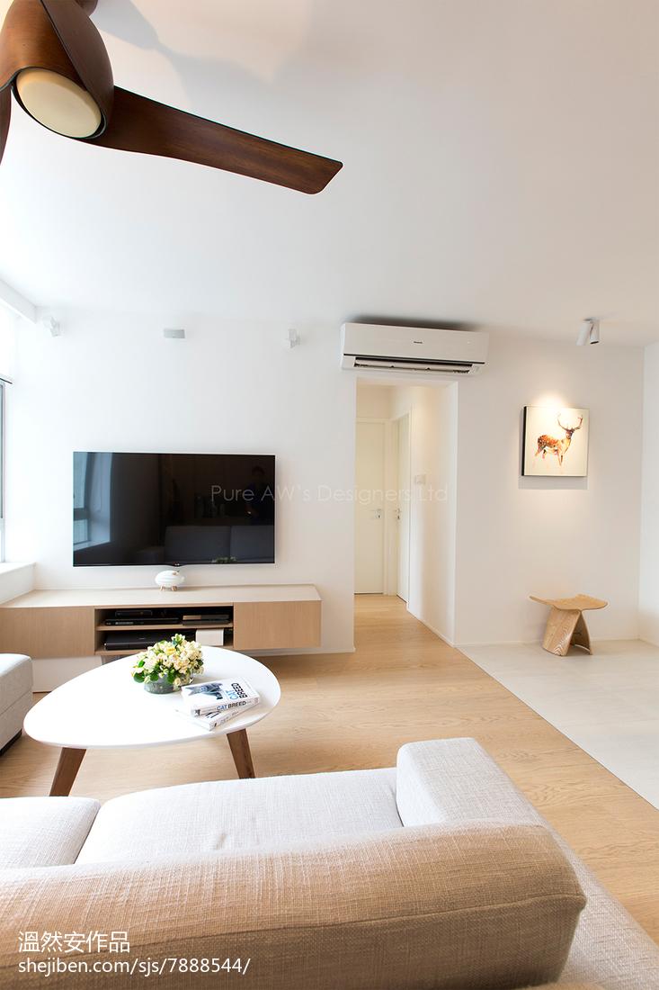 2018简约二居客厅装修效果图片欣赏