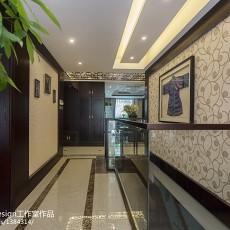 热门117平米中式别墅过道装修欣赏图片