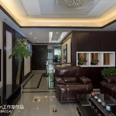 热门面积142平别墅客厅中式实景图