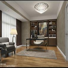 2018136平米现代复式书房装修效果图片大全