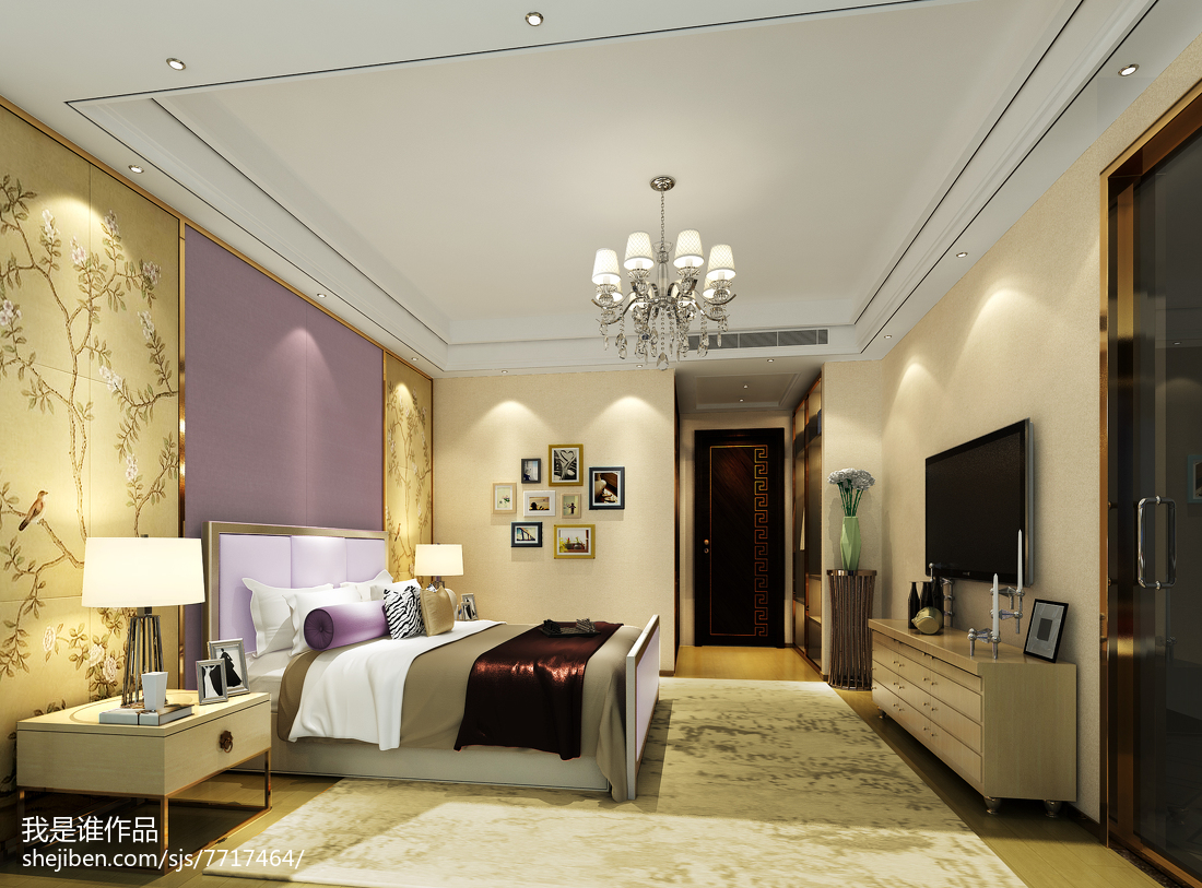 精巧温馨美式主卧室装修图