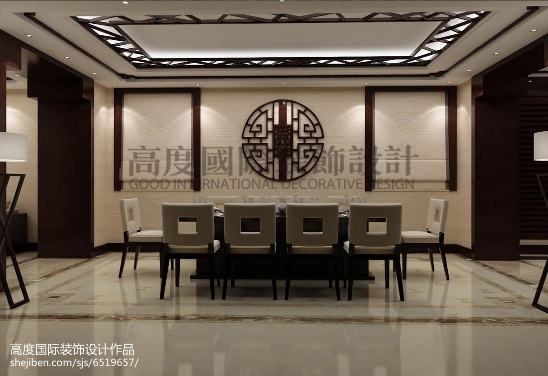 现代美式设计餐厅窗帘