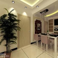 热门面积105平现代三居餐厅装修效果图片大全