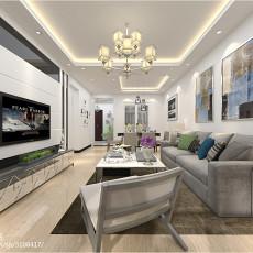 热门面积78平现代二居客厅装修设计效果图片