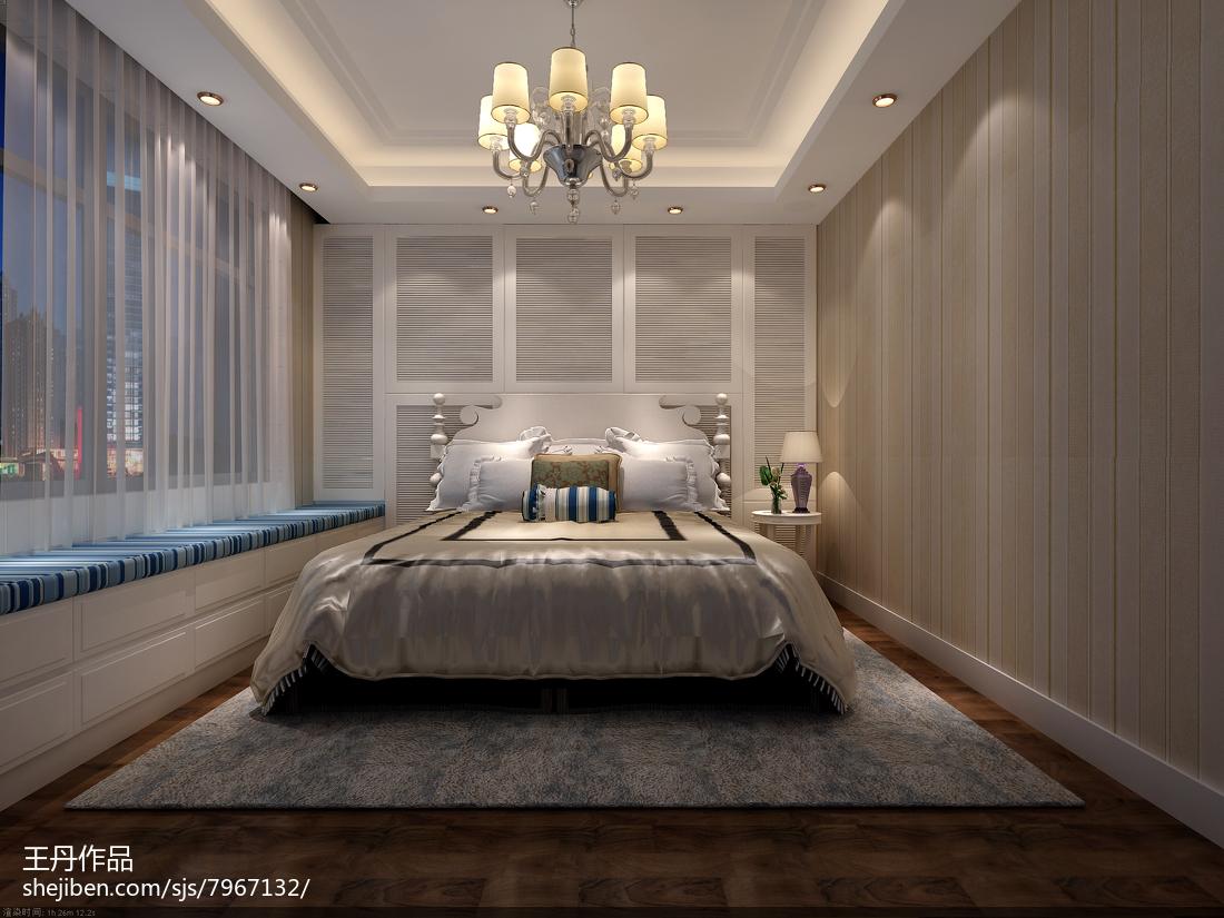精选面积79平小户型卧室美式装修图