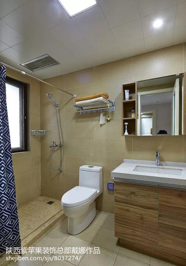 清新温馨的简约风格装修卫生间图片
