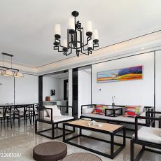 2018精选101平米三居客厅现代装修实景图片欣赏