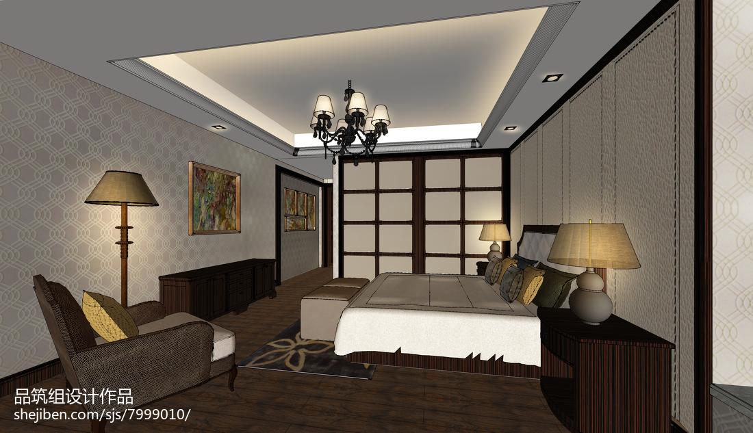 欧式风卧室背景墙装修图设计