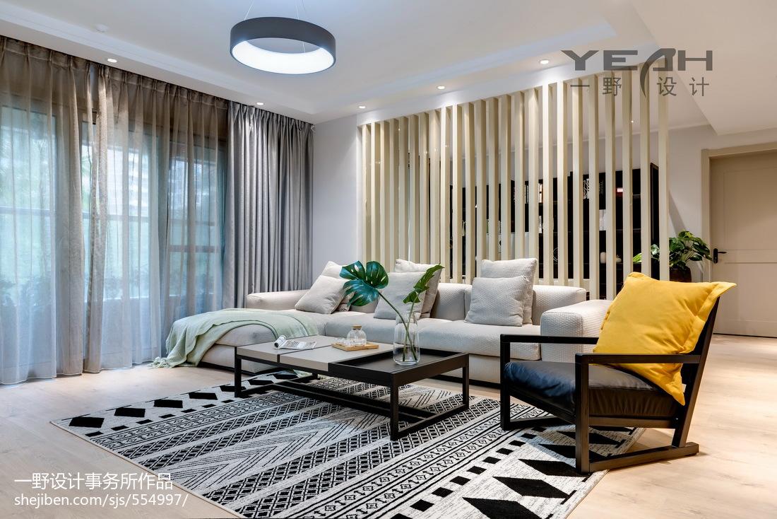 2018精选120平米四居客厅混搭装修效果图片欣赏