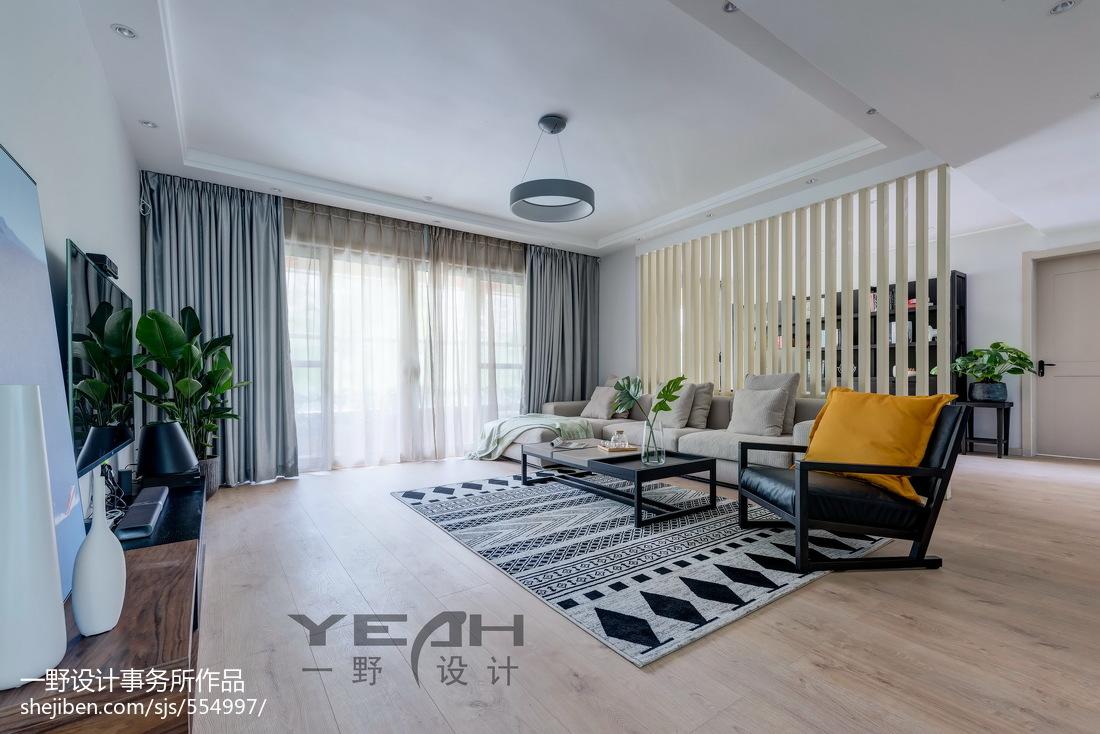热门135平方四居客厅混搭装修效果图