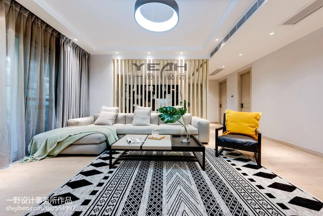 精选141平方四居客厅混搭装修效果图片大全