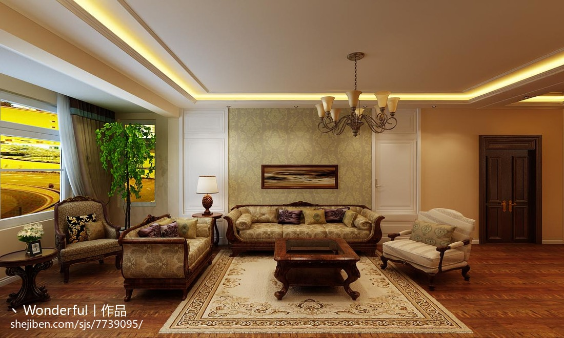 现代时尚家装客厅装修效果图
