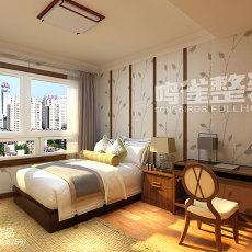 精选面积85平欧式二居卧室实景图片