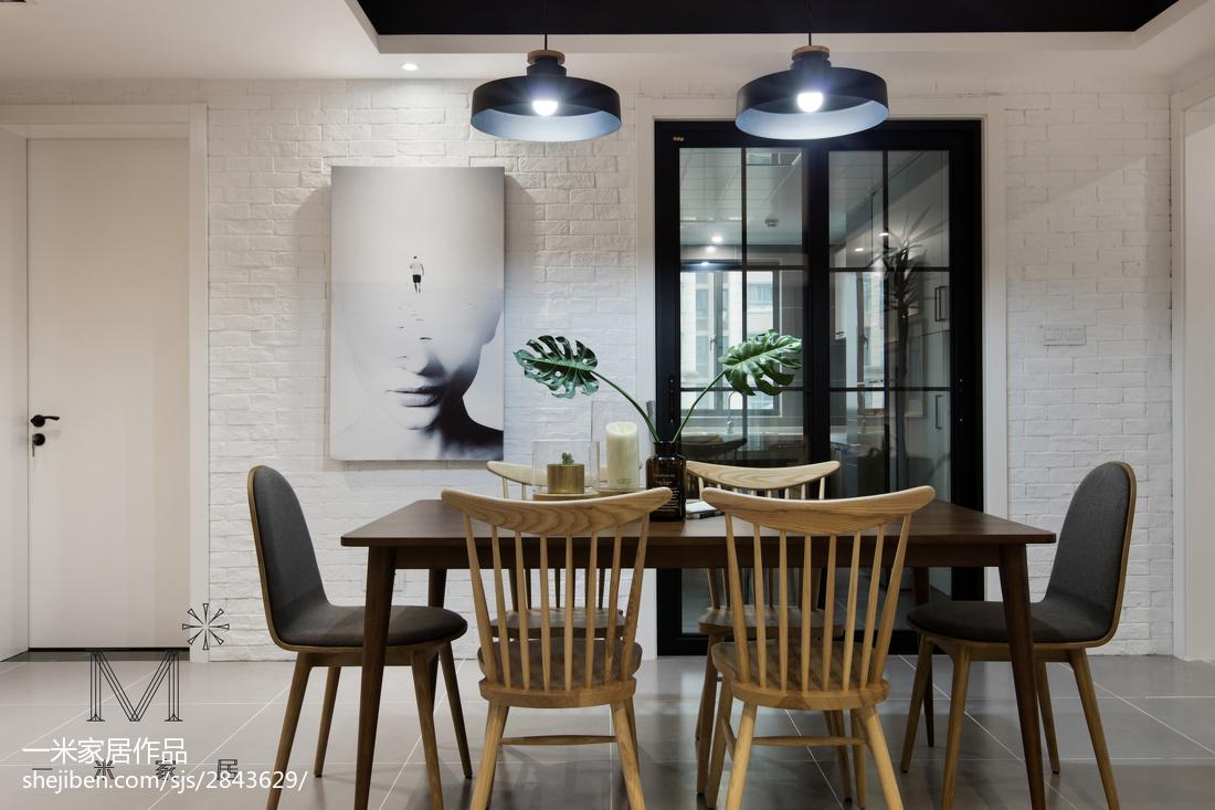 热门面积92平北欧三居餐厅设计效果图