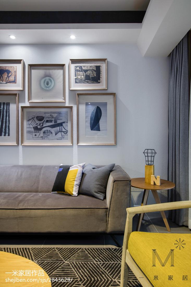 热门面积91平北欧三居客厅欣赏图片大全