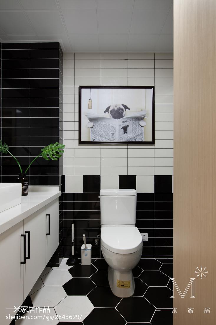 2018三居卫生间北欧装修设计效果图片