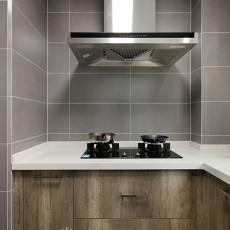 2018精选107平米三居厨房北欧装修实景图