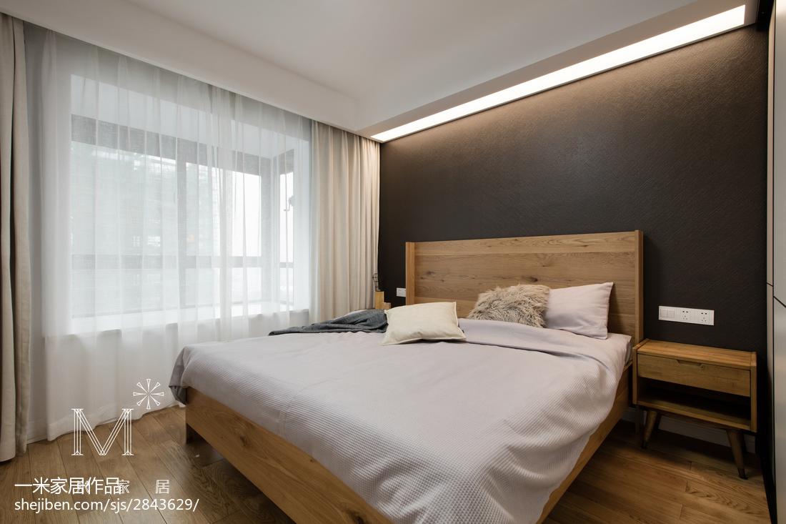 201890平米三居卧室北欧效果图片