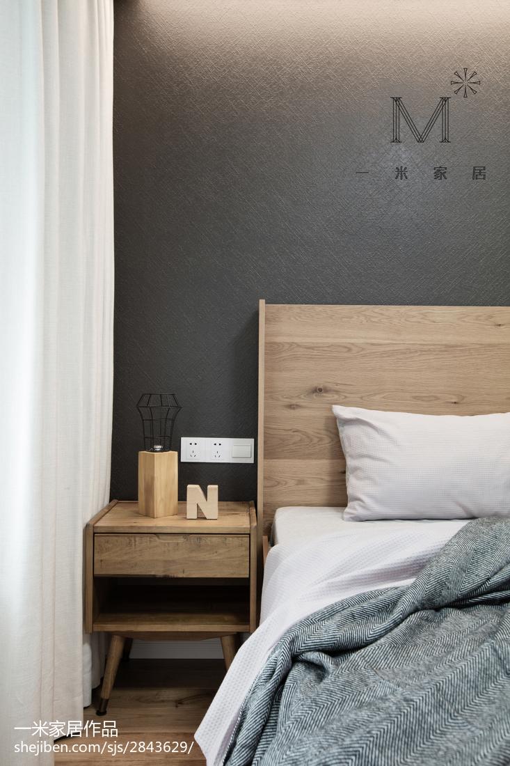 2018大小102平北欧三居卧室效果图片