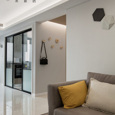 热门109平米三居客厅现代效果图片大全