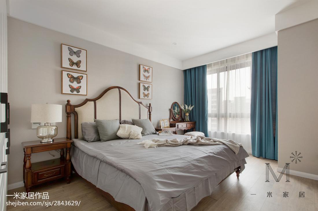 2018大小106平现代三居卧室装修效果图片大全