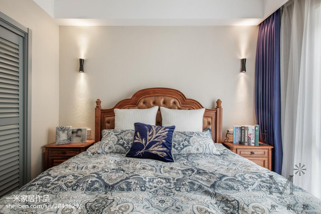 轻奢51平美式二居卧室装修设计图