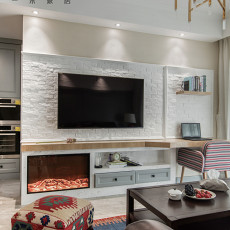 2018精选82平米二居客厅美式装修实景图片欣赏