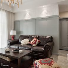 2018精选面积77平美式二居客厅实景图片